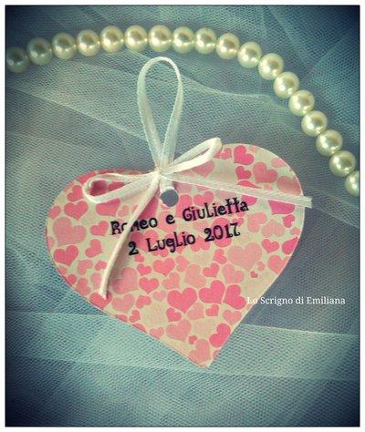 50 Tag, Bigliettino cuore Matrimonio/ Anniversario
