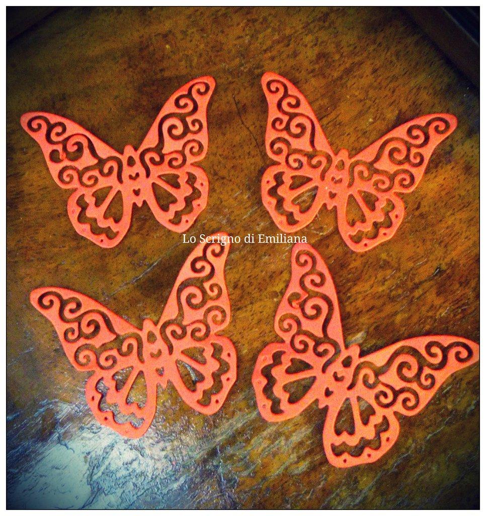 50 Farfalle fustellate cartoncino