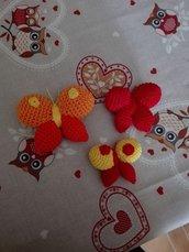 Tris di farfalle allegre