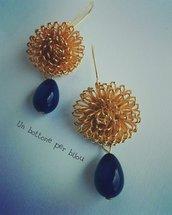 Orecchini con bottoni gioiello artigianali