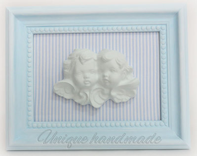 Quadretto celeste 3D con angioletti