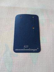 Cartoncini   Espositori per Orecchini, con la scritta  argento 925