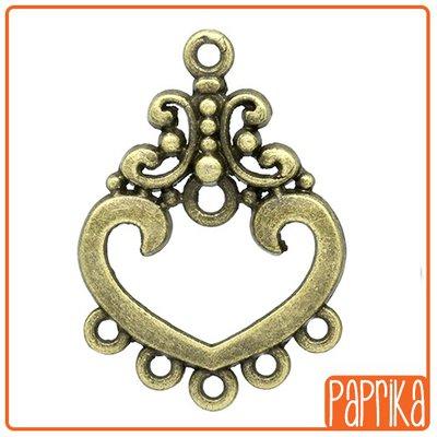 Connettore bronzo pendente 5 anelli