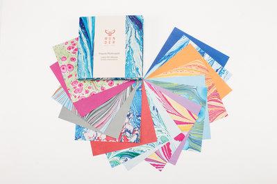 Tracce Fluttuanti | carta per origami | pattern marmorizzati