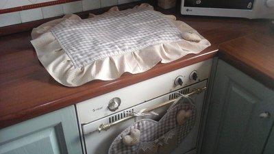 copri fornelli shabby per cucina standard con 4 fuochi