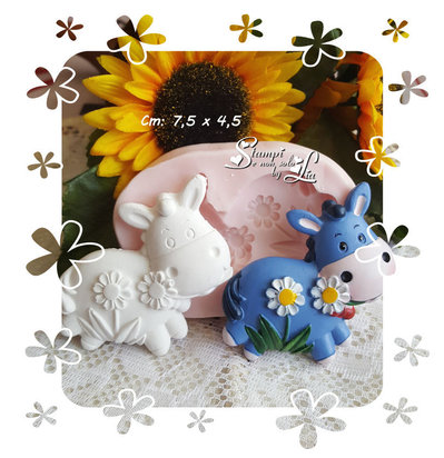 Stampo *Asinello con fiori*