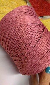 cordino thai effetto seta  rosa antico