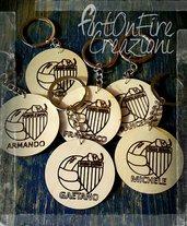 Portachiavi calcio in legno