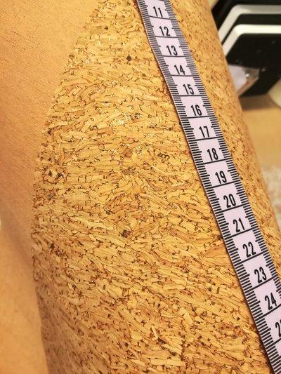 Tessuto di sughero glitterato oro