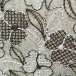 feltro di lana 50x75 da 2mm ricamato a fiori