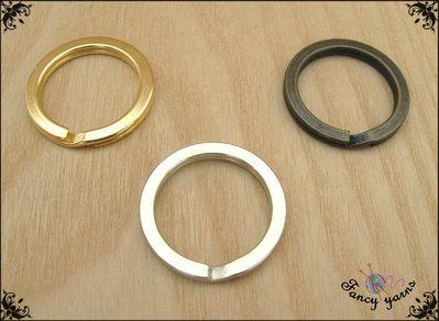10x anelli portachiavi a filo piatto, disponibili in 3 colori: argento, oro e ottone invecchiato