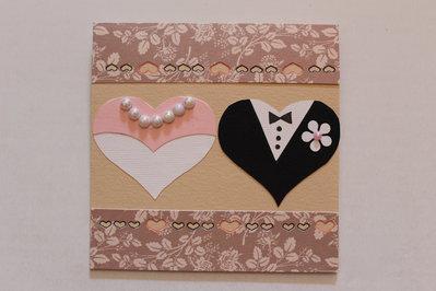 Biglietto Auguri Matrimonio - Cuori