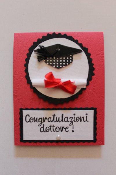Biglietto Auguri Laurea - Congratulazioni Dottore
