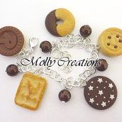 Bracciale ciondoli in Fimo biscotti