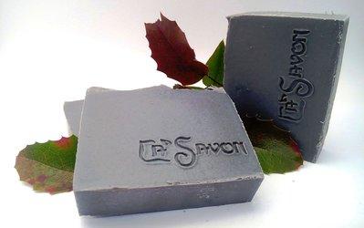 Sapone nero con carbone attivo e olio essenziale di tea tree, fatto a mano - Carboncino