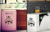 Adesivo Cucina con mini-mobili