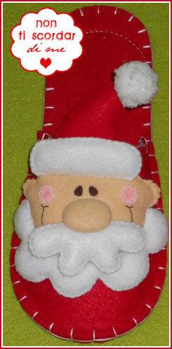 Pantofole babbo natale feste natale di lan su for Pantofole natalizie
