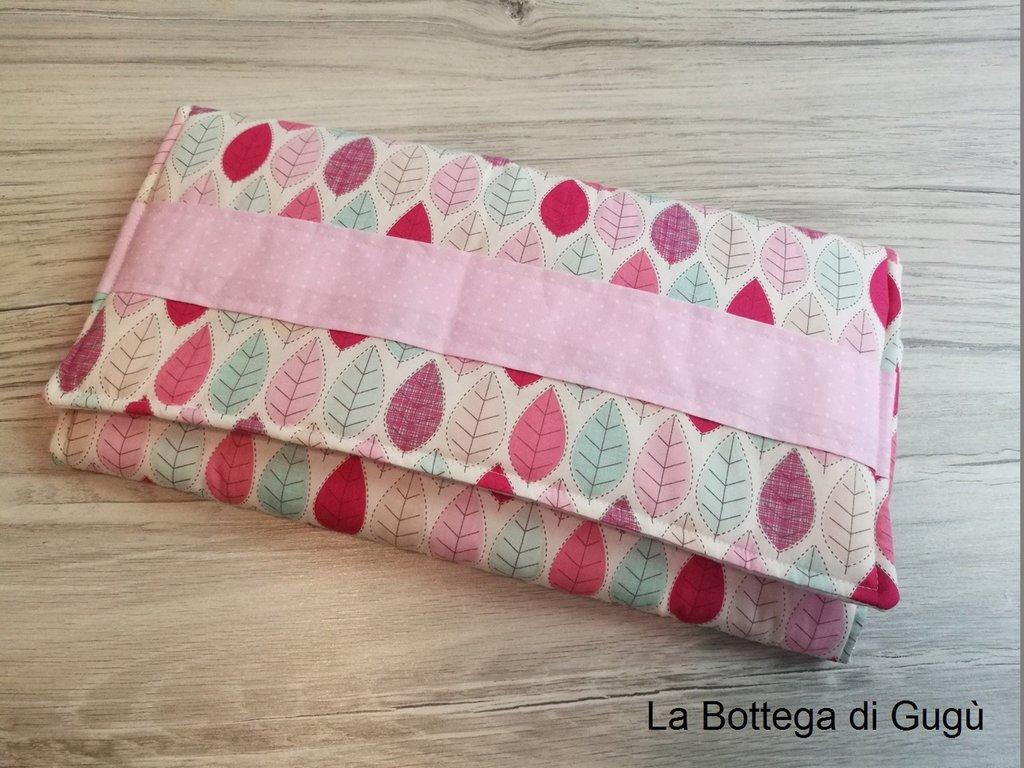 """Fasciatoio portatile """"Foglie rosa"""" personalizzabile"""