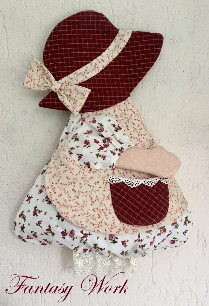 Porta sacchetti bambolina sue per la casa e per te - Porta sacchetti ...