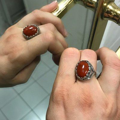 Anello Ovale - Rosso
