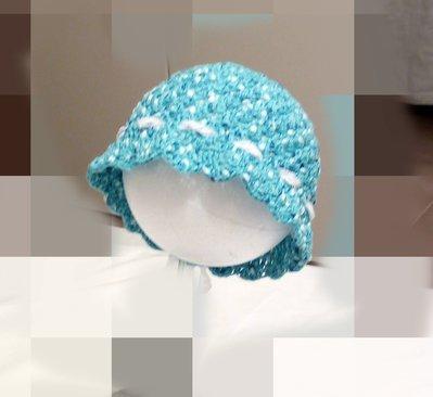 cappellino neonata fatto a mano uncinetto cotone