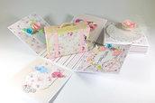 Biglietto/scatola porta soldi matrimonio Shabby Chic - tema viaggi - wedding explosion box Shabby Chic