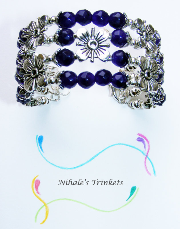Purple Flowers - Bracciale