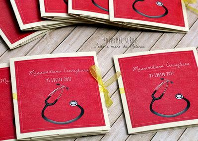 Bomboniera mini album - laurea medicina