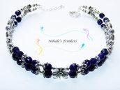 Purple Flowers - Collana