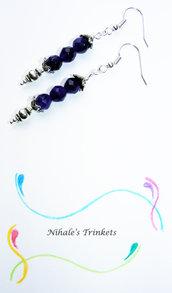 Purple Flowers - Orecchini