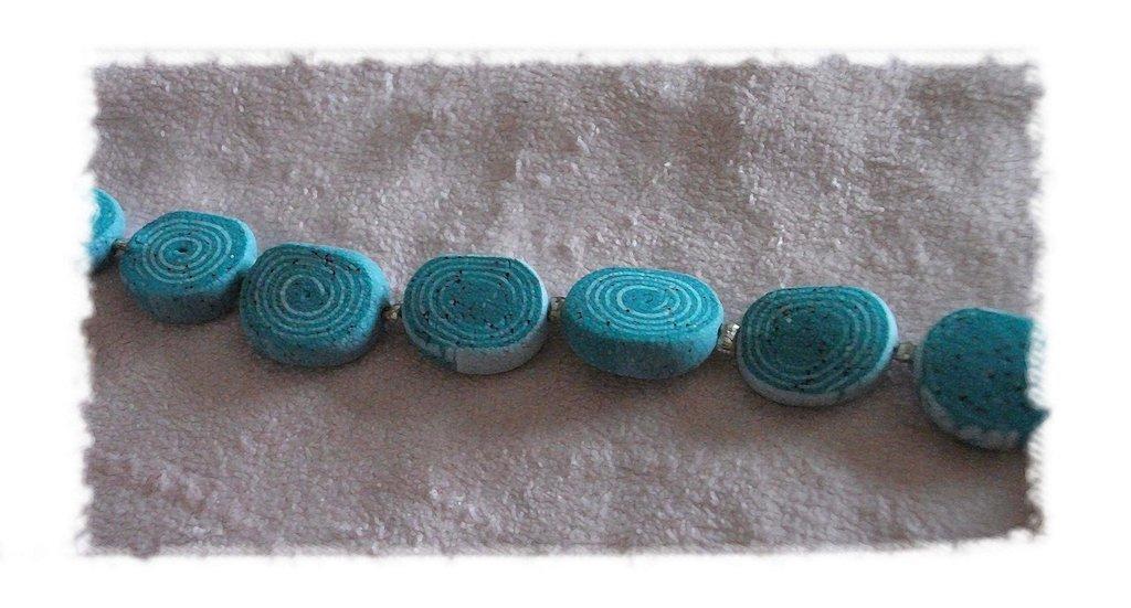 """BRACCIALE color Azzurro serie """"Pietre"""""""