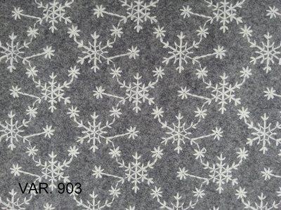 feltro di lana 50x75 da 2mm ricamato a fiocchi di neve