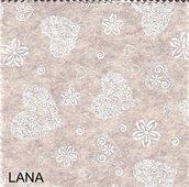 Pannolenci stampato romantic color lana 20cm x 180cm