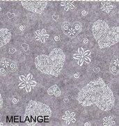 Pannolenci stampato romantic color grigio melange 20cm x 180cm