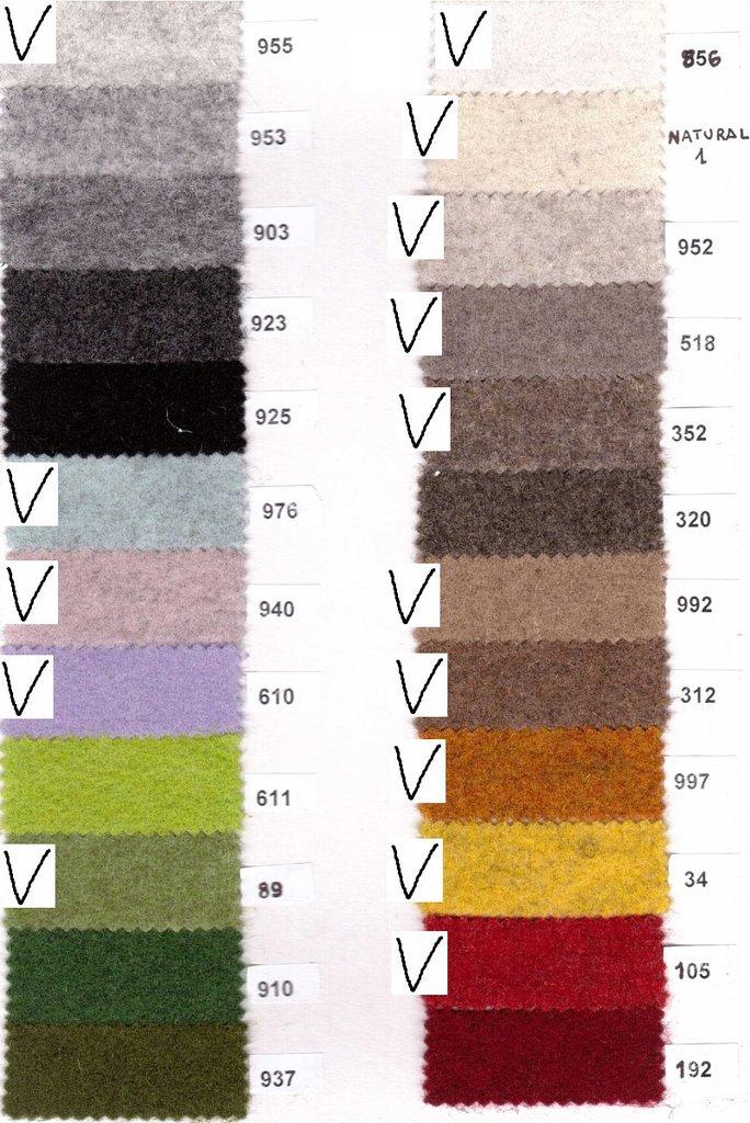 feltro di lana 2mm - 20cm x 150cm colori a scelta