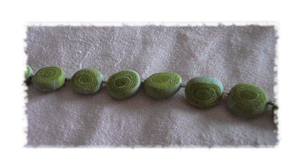 """BRACCIALE color Verde Chiaro serie """"Pietre"""""""