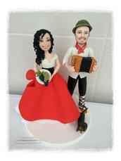 Sposi folk con bassotto