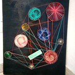 Quadro ingranaggi string art