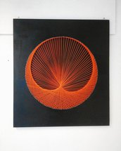 Quadro Orange string art