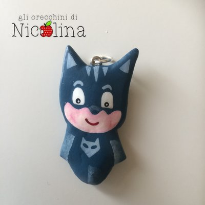 Ciondolo PJ Masks Super pigiamini Gatto boh in cartapesta