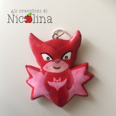 Ciondolo PJ Masks Super Pigiamini Gufetta