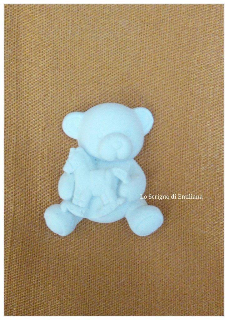 Gessetto profumato orsetto per realizzare bomboniere/segnaposto