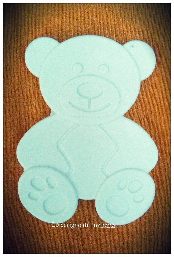 Gessetto profumato orso per realizzare bomboniere/segnaposto