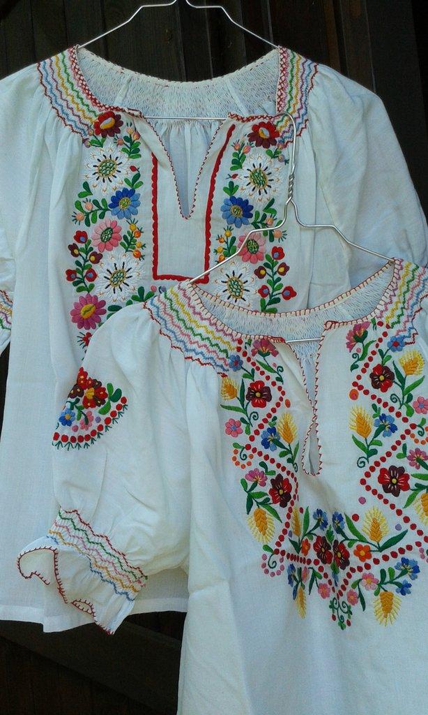 camicia donna cotone ricamata usato