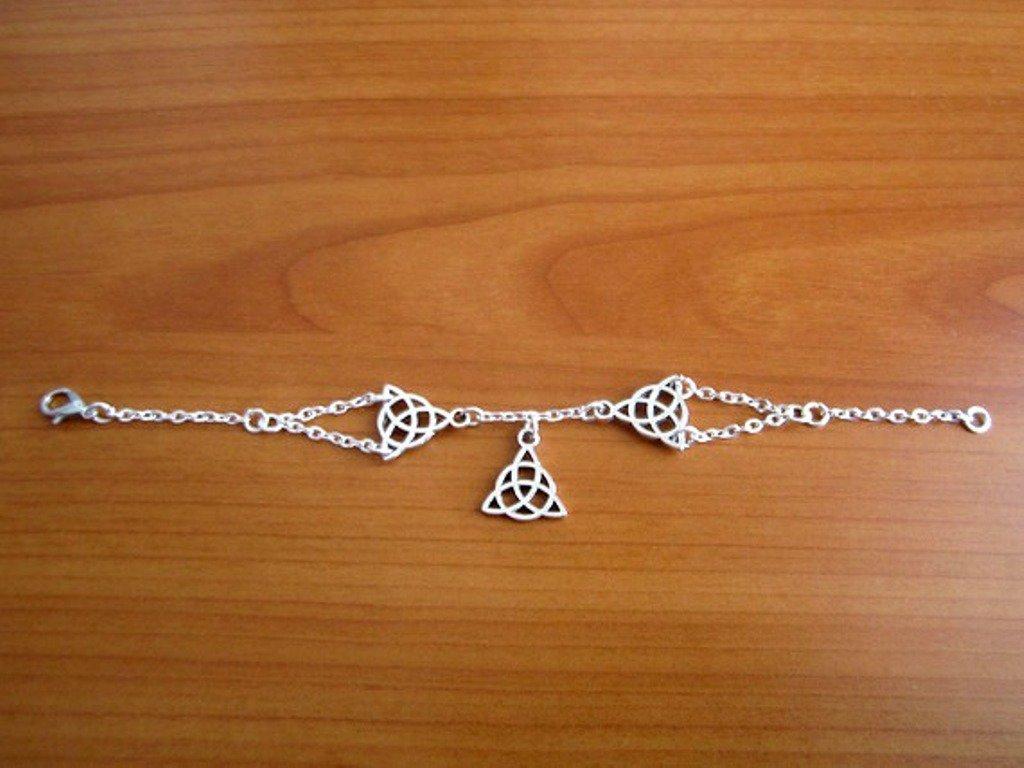 bracciale simple triquetra simbolo celtico argento tibetano