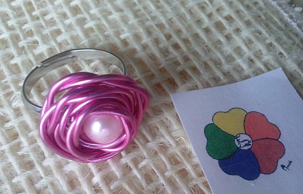 ANELLO DELLA COLLEZIONE *LE ROSE DI SUSIE* color Rosa