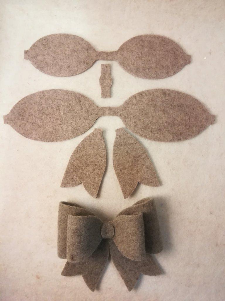 Set 2 Fiocchi *da assemblare* in feltro di lana o altri materiali