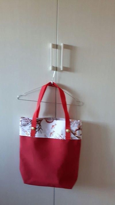 Shopping bag in tessuto fantasia