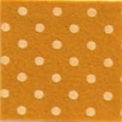 Foglio pannolenci 30x40cm giallo senape a pois