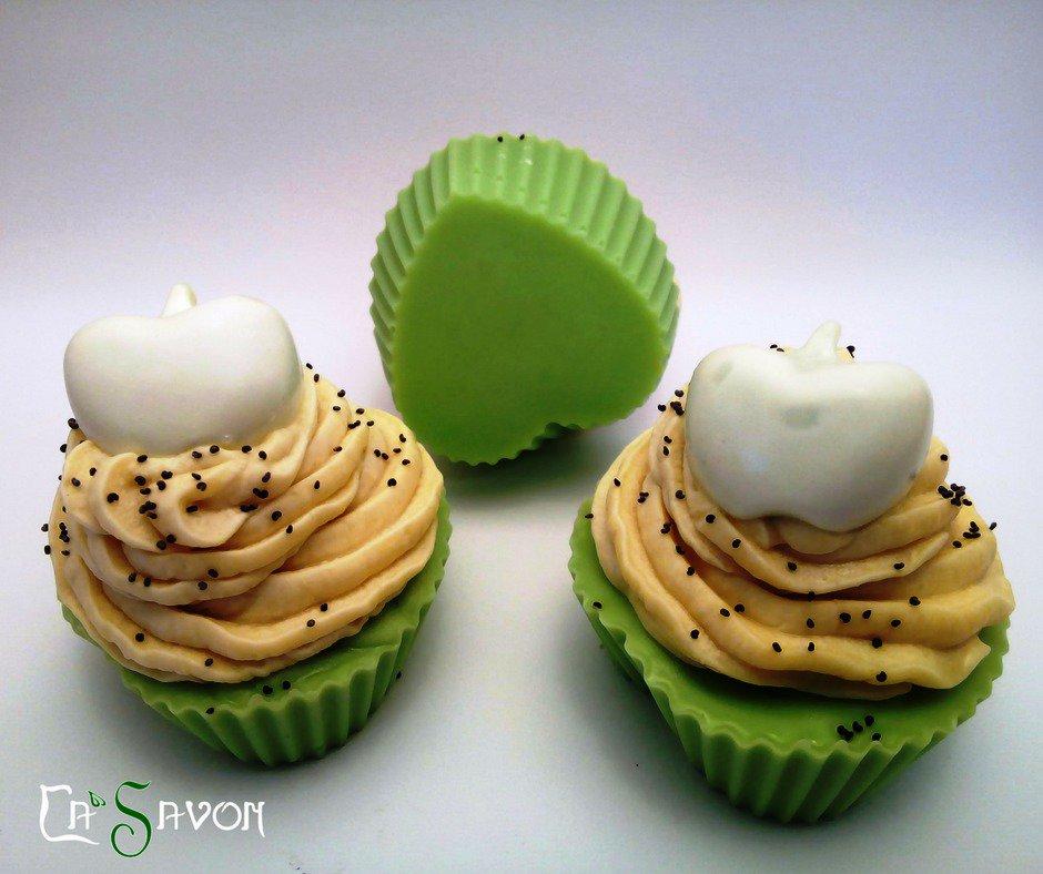 Sapone cupcake alla mela verde fatto a mano